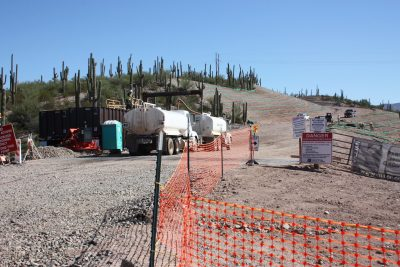 Construction continues at the site of the new Apache Sky Casino.