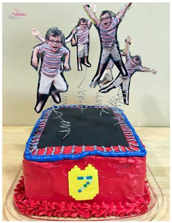 Trampoline birthday cake.