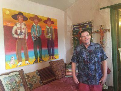 Chuck Davidson at Casa Azul.