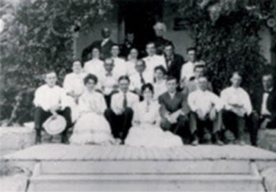On the steps of the Acadia, June 19, 1908 OHS Lawson Collection