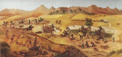 The Tully & Ochoa Wagon Train Fight, by Edward Zinns