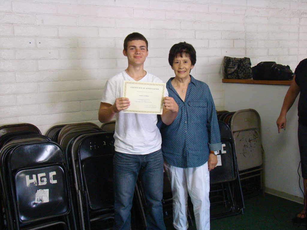 Jean Slater with Sponsored Student