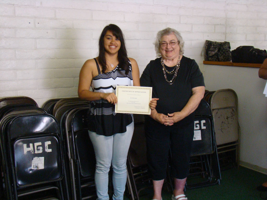 Rosalind Padilla with sponsored student