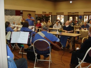Veterans enjoyed Christmas music by San Manuel's Noise Makers last Friday at the Veterans' Hospital on South Sixth Avenue in Tucson.