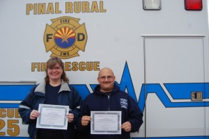 Pinal Rural Rescue had a fifth wheel travel trailer donated to them. Gerd and Mary Scholz donated the trailer to them.