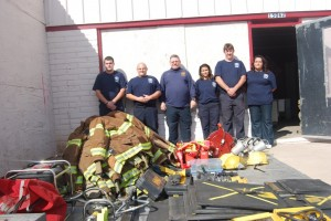 Firefighters from Pinal Rural Fire Rescue are excited by the donation received from the Sedona Fire Department