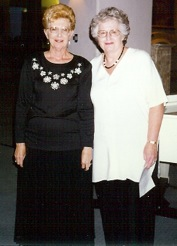 "SBCO co-founders Dorothy Steffano (left) and Anita Eagle are pictured in the May 1997 fundraiser, ""Broadway Nights."""