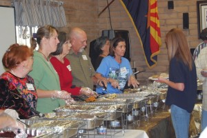 The Oracle Fire Department, community volunteers, Firewise Board and CERT Team served 480 meals to members of the community on Tues. at the Oracle Fire House. Thirty meals were also delivered to shut ins in Oracle.(John Hernandez photos)