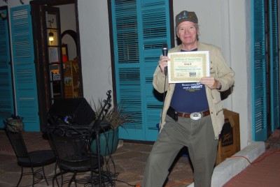 Mike Weasner with certificate for Circle K.