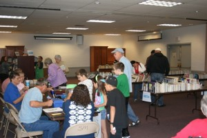San Manuel Library hosts their annual book sale with many book seekers finding bargains.
