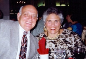 "SBCO co-founder Roberta Spector and her husband Don are pictured here in May 1997 enjoying one of SBCO's earliest fundraising events, ""Broadway Nights."""