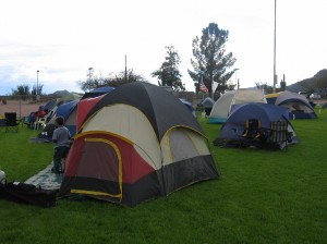 Tents at Sleepover