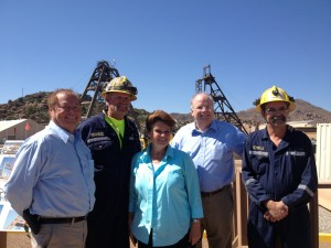Last week Superior and the Resolution Copper Project had a visit from Rep. Andy Tobin (R). Tobin is the Speaker of the House for the Arizona House of Representatives.