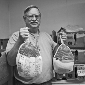 Photo of Dennis Van Gorp, Superior Food Bank, by L. Martin