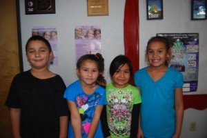 The Mammoth Elementary Students of the month for August are:Kinder - Mia Gutierrez, First Grade - Kayla Ortega, Second/Third Grade - Francisco Botello, Fourth Grade - Victoria Zazueta, Fifth/Sixth Grade – Selena Cruz (unavailable for photo).