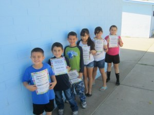 Honored as Students of the Month for September at Winkelman Elementary School were, l to r, Joshua Manriquez, Kindergarten; Ismael Gallego, First Grade; Damien Smith, Second Grade; Jesus Rivera, Fourth Grade and Clarissa Gonzales, Fifth Grade. Not pictured is Octavio Aragon, Third Grade.