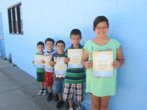Named as Citizens of the Month for September at Winkelman Elementary School were, l to r, Elijah Castaneda, Kindergarten; Alonzo Sims, First Grade; Brandon Garner Jr., Second Grade, Greace Ramirez Corona, Third Grade; Alyssa Bravo, Fourth Grade and Ariana Pacheco, Fifth Grade.