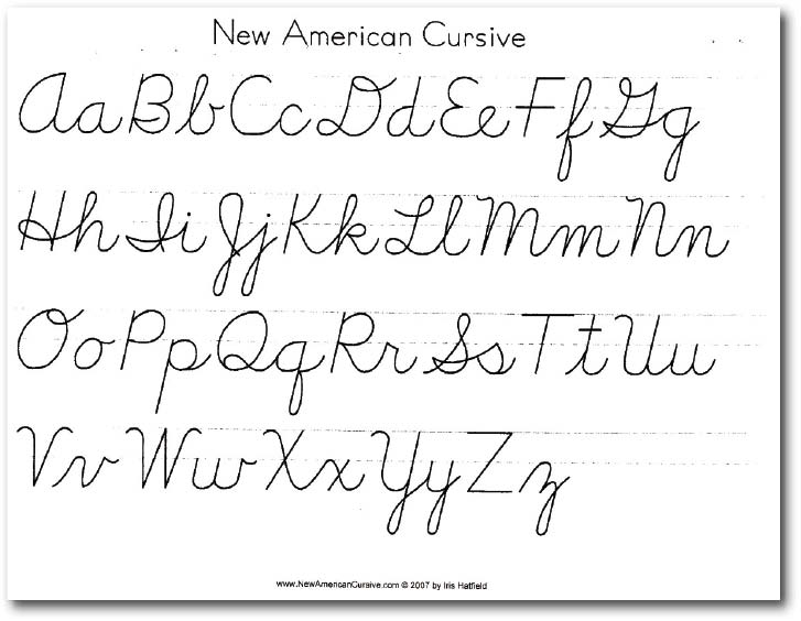 Alphabets Worksheets For Cursive Writing Alphabets