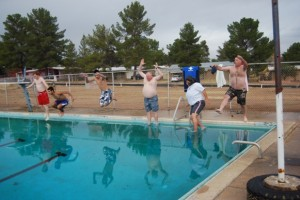 Taking the Polar Plunge at the San Manuel Pool