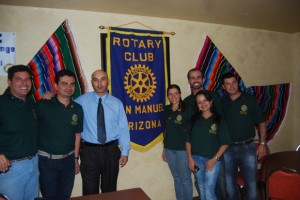 The San Manuel Rotary hosted a group of young Rotarians from Brazil at Romo's Restaurant on Oct.31, 2012.