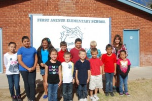 September's Students of the Month are: Kinder – Bruce (JJ) Fletcher III, Audrey Hawkins; First Grade – Joshua Land, Connor Lockwood; Second Grade – Samantha Reed, Kaden Richards; Third Grade – Marialena Molena, Aubrey Encinas (unavailable for photo); Fourth Grade – Isaiah Castillo, Hayley Downing; Fifth Grade – Gabriella Estrada, Vanessa Cazares; Sixth Grade – Celeste Maxwell, Francisco Moreno.