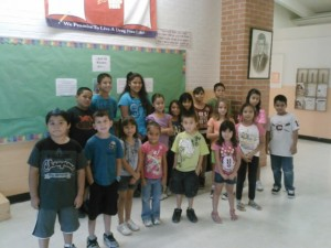 JFK's superstar students of the month for September are Anthony Arroyos, Samantha San Miguel, Aamani Cutler, Alisa Romero, Jared Toner, Liana Hernandez, Arturo Orozco, J.P. Tomerlin, Mira Estatico, Jasmin Ortega, Elianna Villalobos,  Marcos Galindo, Myika Cruz, Niko Martinez, Angelica Orozco, Chanel Lopez, Brisa Gomez, Elias Gerola, Carlos Moreno, Marlee Estatico, Cedric Mendoza and Caroline Wernett. Congratulations and keep up the great work! (Submitted photo)