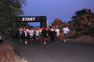 Runners and walkers from far and wide turned up in Oracle Sunday, Dec. 9, for the annual Tucson Marathon